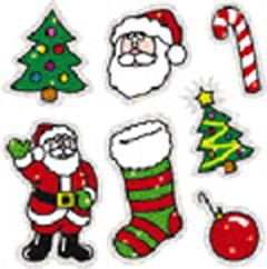 CARSON DELLOSA CD-2905 DAZZLE STICKERS CHRISTMAS 105-PK ACID AND LIGNIN FREE