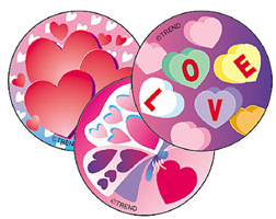 TREND ENTERPRISES INC. T-928 STINKY STICKERS VALENTINES DAY CHER RY 60 PACK ACID-FREE