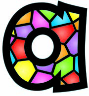 INC.  STAINED GLASS 4 IN PLAYFUL COMBO READY LETTERS