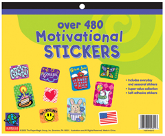 EUREKA EU-458010 JUMBO STICKER BOOKS 480 COUNT MOTI VATIONAL