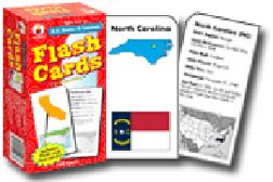 CARSON DELLOSA CD-3913 FLASH CARDS US STATES & CAPITALS