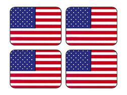 INC.  STICKERS AMERICAN FLAG