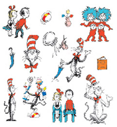 Cat And The Hat - EUREKA EU-840224 CAT IN THE HAT CHARACTERS 2 SIDED D ECORATING KIT