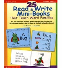 SCHOLASTIC TEACHING RESOURCES SC-0439155878 25 READ & WRITE MINIBOOKS THAT TEAC H WORD FAMILIES
