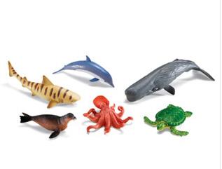 LEARNING RESOURCES LER0696 JUMBO OCEAN ANIMALS EDRE21200
