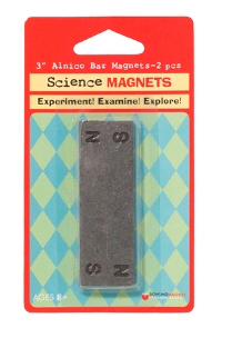 Dowling Magnets DO-731011 3 Inch Bar Magnets - Set Of 2