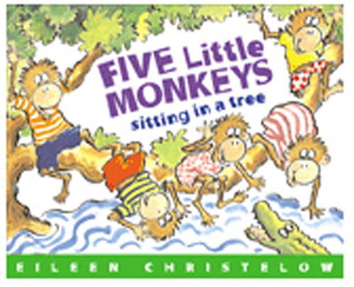 HOUGHTON MIFFLIN HO-395664136 FIVE LITTLE MONKEYS SITTING/TREE