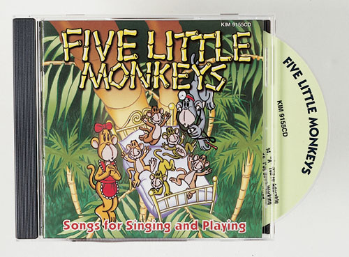 KIMBO EDUCATIONAL KIM9155CD FIVE LITTLE MONKEYS CD