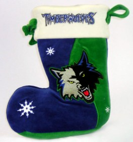 "Minnesota Timberwolves 10"" Holiday Stocking"