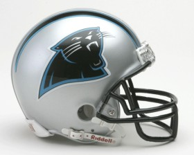 Carolina Panthers Replica Mini Helmet w/ Z2B Face Mask CASY7012