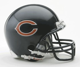 Chicago Bears Replica Mini Helmet w/ Z2B Face Mask CASY7013