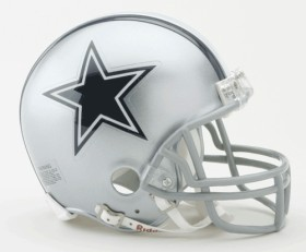 Dallas Cowboys Replica Mini Helmet w/ Z2B Face Mask CASY7016