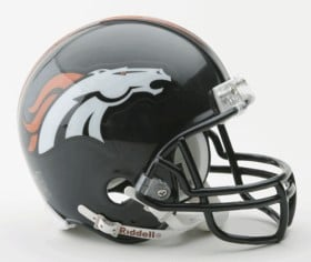 Denver Broncos Replica Mini Helmet w/ Z2B Face Mask CASY7017