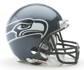 Seattle Seahawks Replica Mini Helmet w/ Z2B Face Mask CASY7033