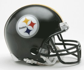 Pittsburgh Steelers Replica Mini Helmet w/ Z2B Face Mask CASY7038
