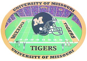 Missouri Tigers Set of 4 Placemats
