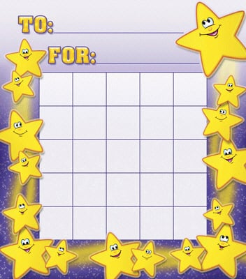 NORTH STAR TEACHER RESOURCE NST2207 SMILEY STARS MOTIVATIONAL CHARTS