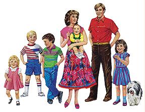 LITTLE FOLKS VISUALS LFV22207 CAUCASIAN FAMILY FLANNELBOARD SET PRE-CUT