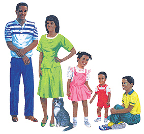 LITTLE FOLKS VISUALS LFV22208 AFRICAN-AMERICAN FAMILY FLANNELBOAR D SET PRE-CUT
