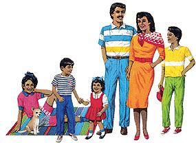 LITTLE FOLKS VISUALS LFV22209 HISPANIC FAMILY FLANNELBOARD SET P RE-CUT