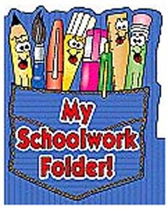 TEACHERS FRIEND TF-1728 POCKET FOLDER MY SCHOOLWORK FOLDER 8.5 X 11 PLASTIC-COATED