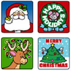 CARSON DELLOSA CD-0609 STICKERS CHRISTMAS 120 PACK ACID AND LIGNIN FREE