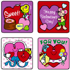 CARSON DELLOSA CD-0647 STICKERS VALENTINES DAY 120 PACK ACID AND LIGNIN FREE