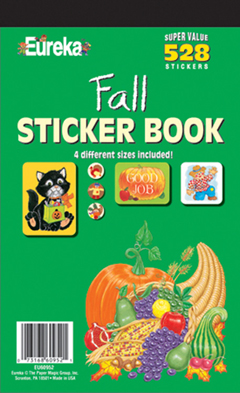 EUREKA EU-60952 STICKER BOOK FALL 528 PACK
