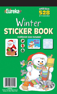 EUREKA EU-60955 STICKER BOOK WINTER 528 PACK