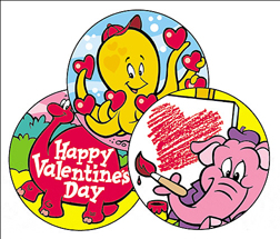 TREND ENTERPRISES INC. T-83406 STINKY STICKERS VALENTINES DAY CHOC OLATE CHERRY 60 PACK ACID-FREE