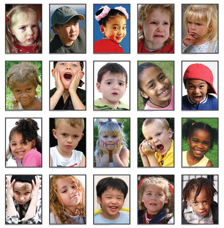CARSON DELLOSA KE-845020 PHOTOGRAPHIC LEARNING CARDS FACIAL EXPRESSIONS