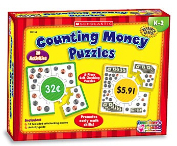 TEACHERS FRIEND TF-7158 COUNTING MONEY BOXED KITS - PUZZLES EDRE17910