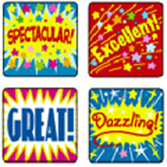 CARSON DELLOSA CD-0625 STICKERS POSITIVE WORDS 120 PACK ACID AND LIGNIN FREE