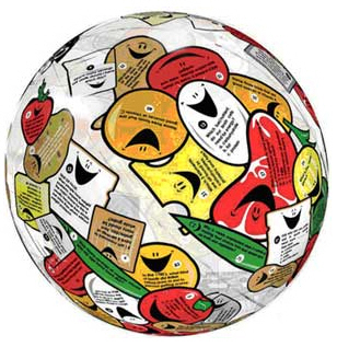 AMERICAN EDUCATIONAL PROD. SRO1461 FOOD/NUTRITION CLEVER CATCH BALL