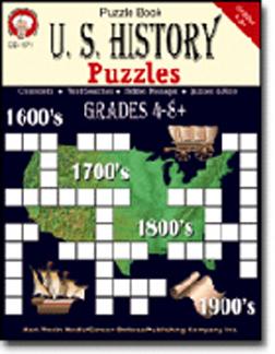 CARSON DELLOSA CD-1371 U.S. HISTORY PUZZLES BOOK