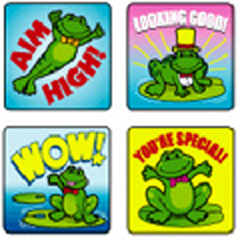 CARSON DELLOSA CD-0617 STICKERS FROGS 120 PACK ACID AND LIGNIN FREE