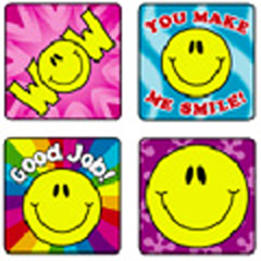CARSON DELLOSA CD-0632 STICKERS SMILE FUN 120 PACK ACID AND LIGNIN FREE