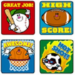 CARSON DELLOSA CD-0636 STICKERS SPORTS 120 PACK ACID AND LIGNIN FREE