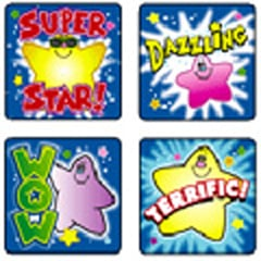 CARSON DELLOSA CD-0639 STICKERS STARS 120 PACK ACID AND LIGNIN FREE