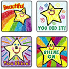 CARSON DELLOSA CD-0640 STICKERS STARS: KID-DRAWN 120 PACK ACID AND LIGNIN FREE