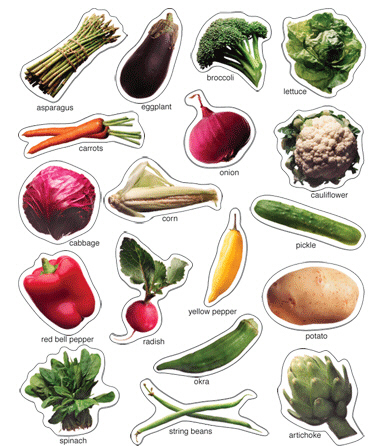 CARSON DELLOSA CD-168009 VEGETABLES: PHOTOGRAPHIC