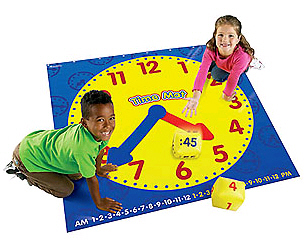 LEARNING RESOURCES LER2981 TIME ACTIVITY MAT EDRE21531