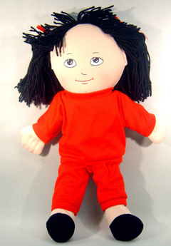 FANNYS PLAY HOUSE FPH727 DOLLS ASIAN GIRL DOLL SWEAT SUIT