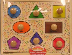 LIGHTS CAMERA INTERACTION LCI2053 FIRST SHAPES JUMBO KNOB PUZZLE