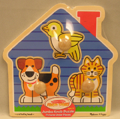 LIGHTS CAMERA INTERACTION LCI2055 HOUSE PETS JUMBO KNOB PUZZLE