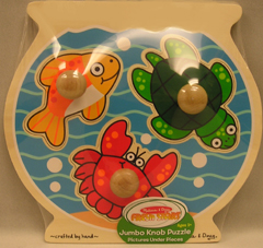 LIGHTS CAMERA INTERACTION LCI2056 FISH BOWL JUMBO KNOB PUZZLE
