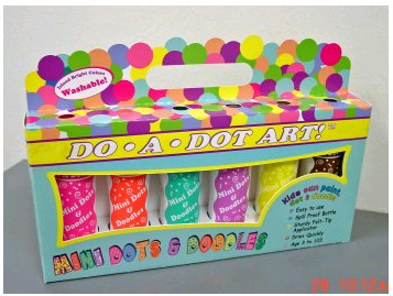 DO-A-DOT ART DAD107 MINI DOTS AND DOODLES ISLAND BRIGHT 6 PACK EDRE9143