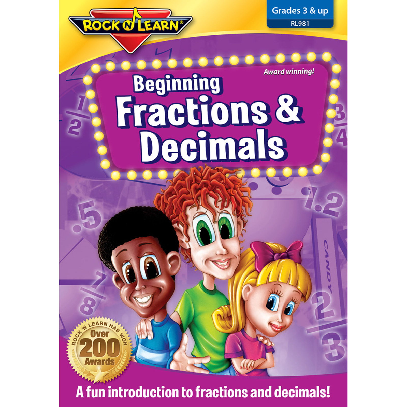 ROCK N LEARN RL-981 BEG FRACTIONS DECIMALS ON DVD