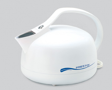 Presto 02703 4 Cup Electric Whistling Tea kettle - White