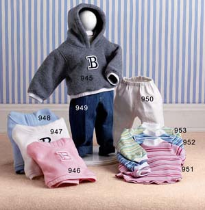 Lee Sweatshirt - Lee Middleton Dolls Hooded Sweatshirt-Blue Fleece